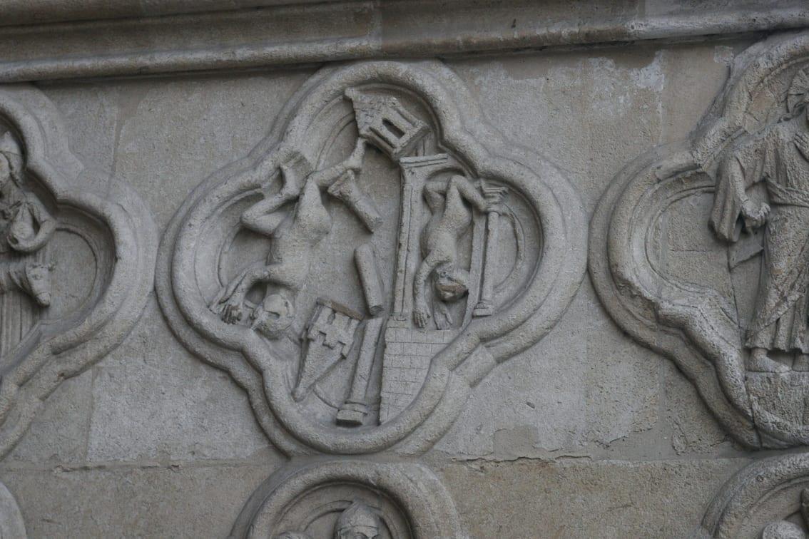 Detale katedrt w Amiens