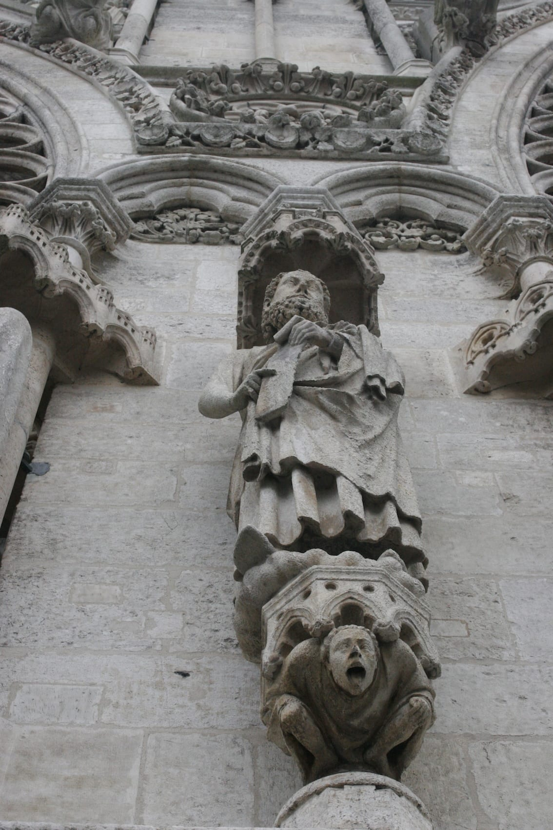 Fasada katedry w Amiens