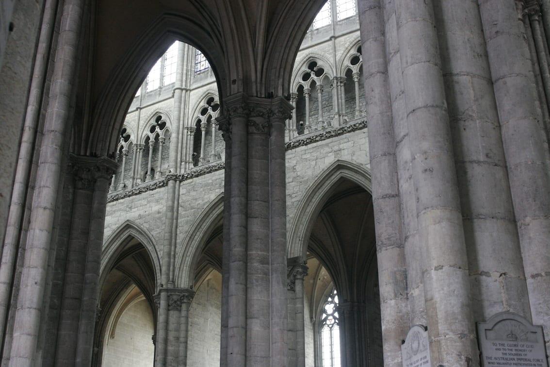 Katedra w Amiens uważana jest za świątynię gotycką o idealnych proporcjach