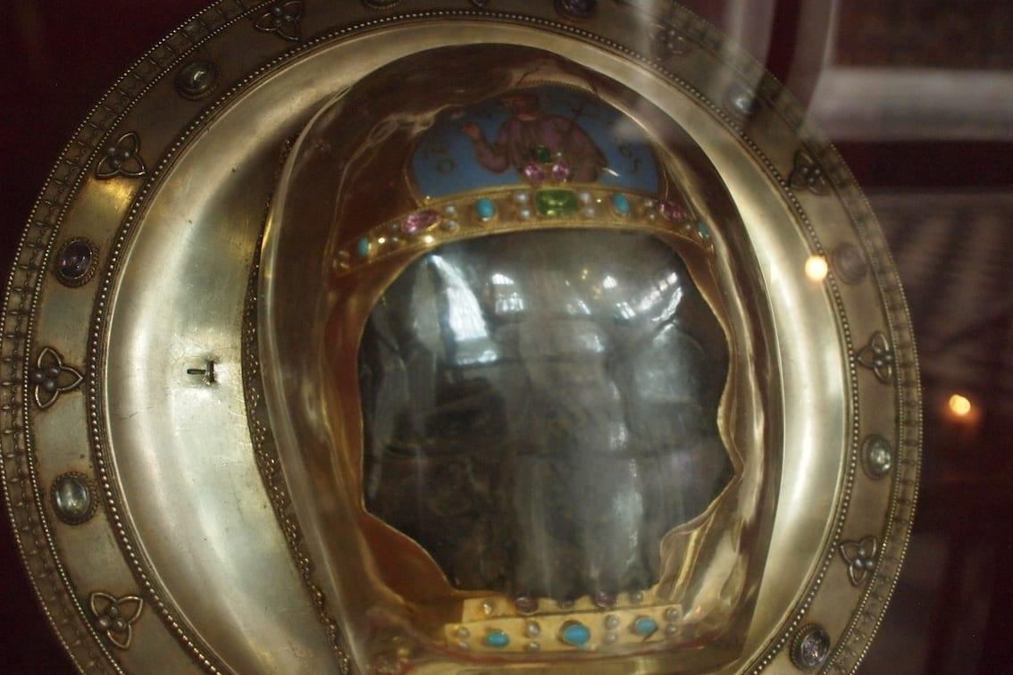 Najcenniejsza relikwia to głowa św Jana Chrzciciela. Podobno ta jest prawdziwa