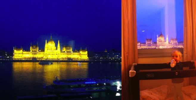 Budapeszt widok na parlament, hotel Novotel Danube