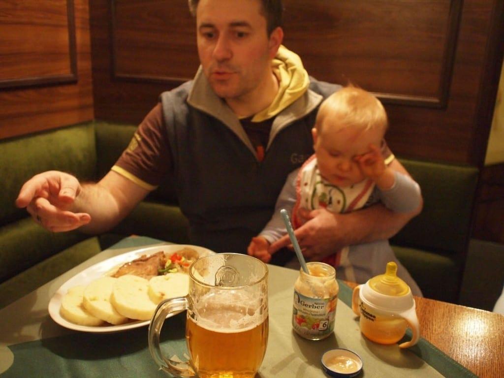 Czeska kolacja dla taty i synka