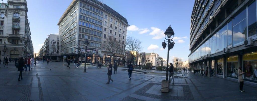 Belgrad – deptak Kniazia Michała.