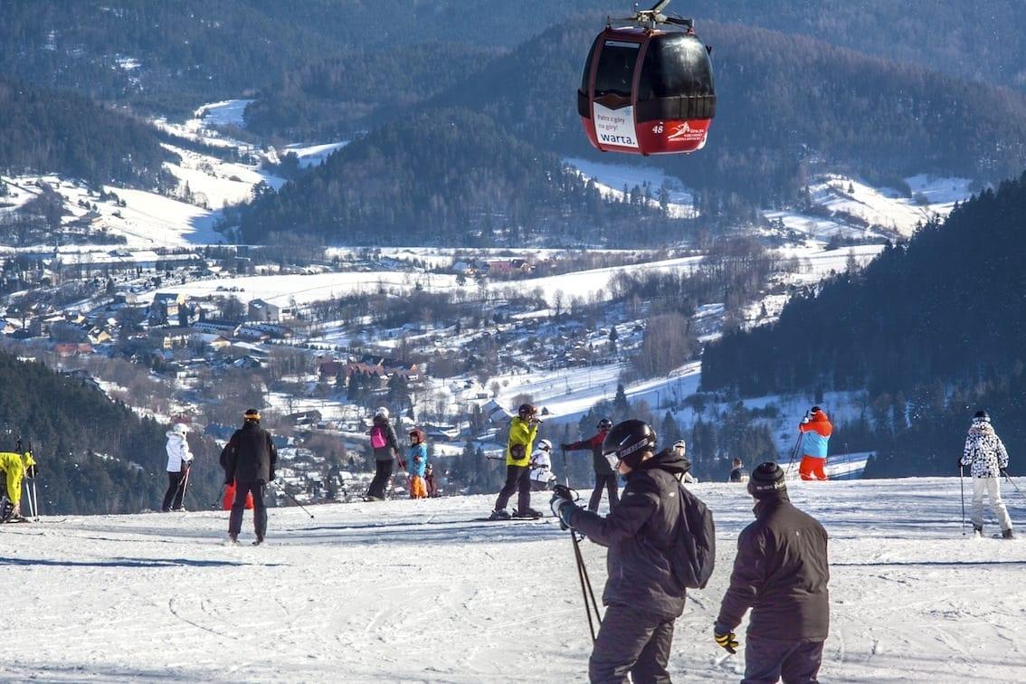 Stok narciarski na Jaworzynie