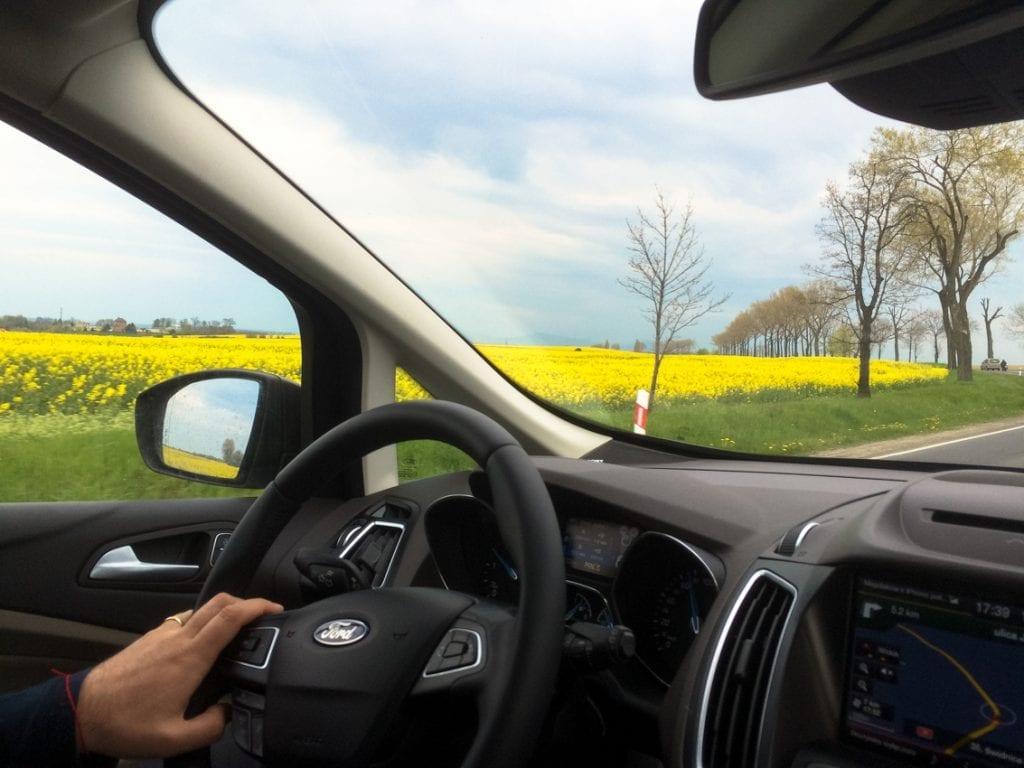 Pogranicze Wielkopolski i Lubuskiego widziane z pokładu Grand C-MAXa