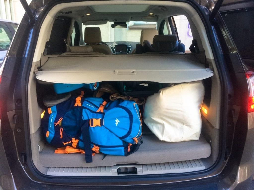 Złożyliśmy tylny, trzeci rząd foteli i uzyskaliśmy bardzo pojemny bagażnik Grand C-MAXa