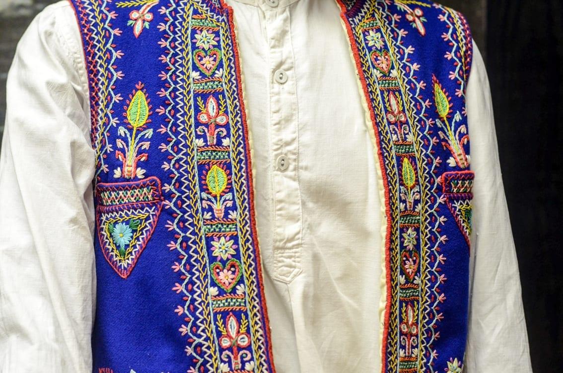 Tradycyjny strój flisacki.