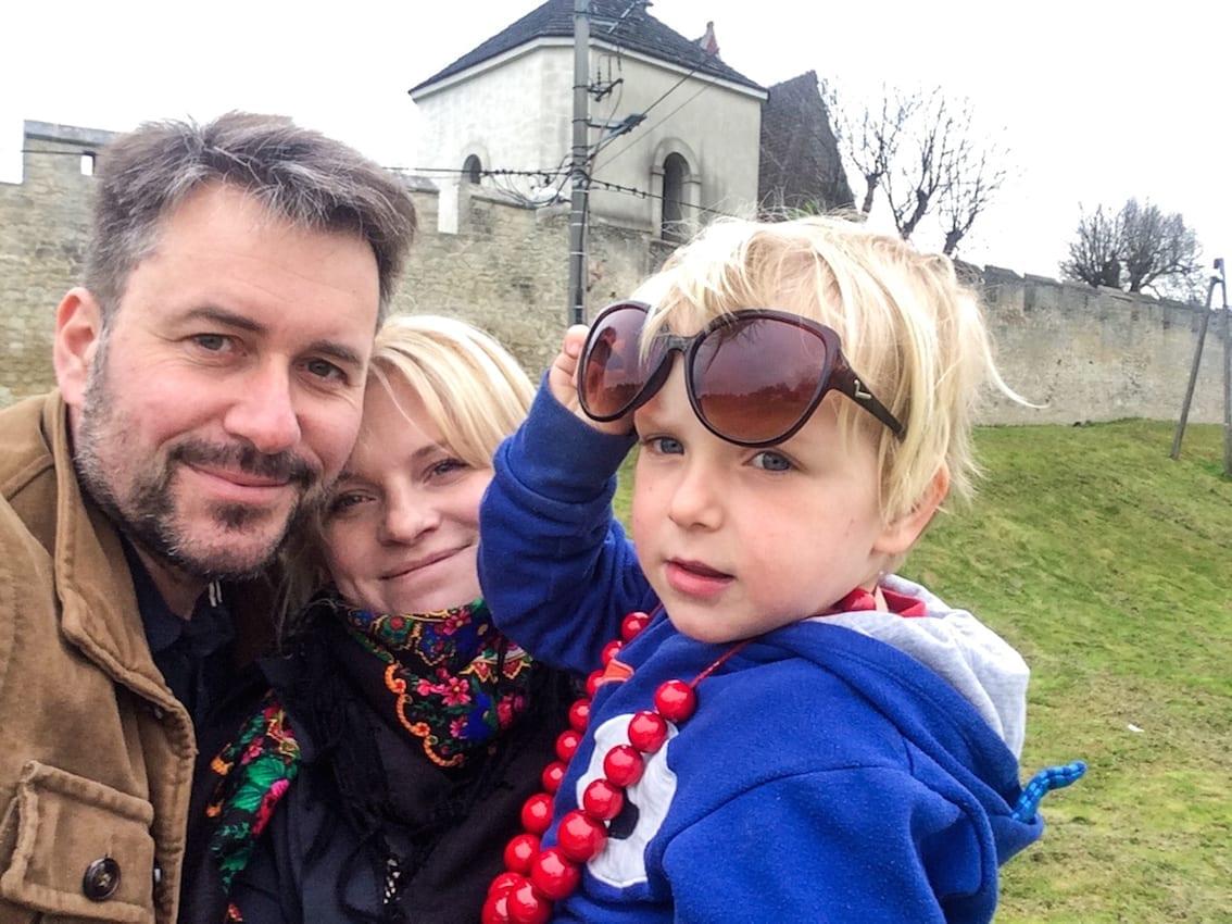"""Obowiązkowe selfie z murami """"polskiego Carcassonne""""."""
