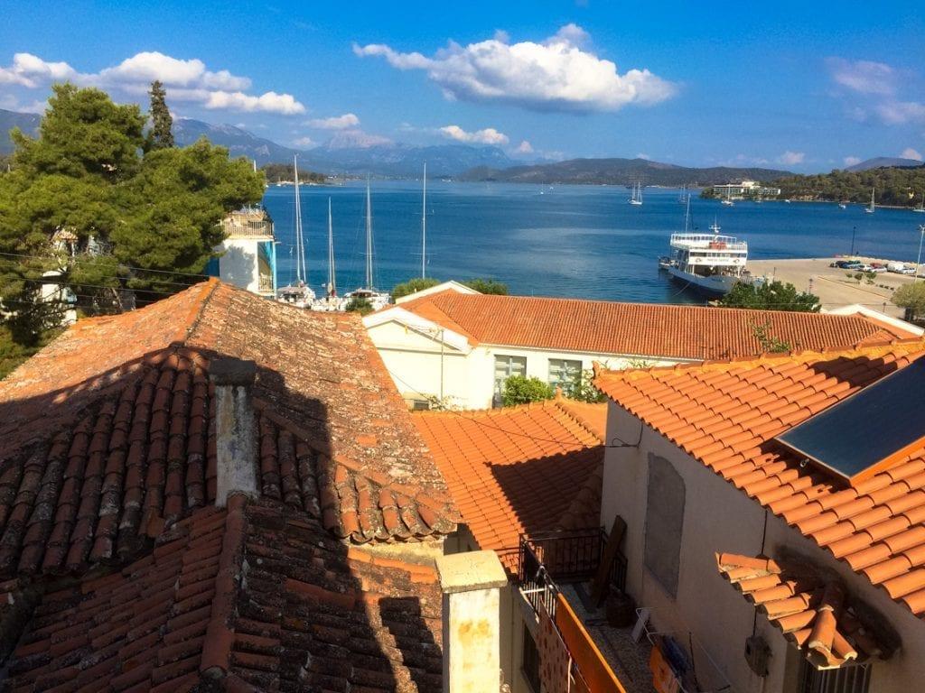 Widok z okna hotelu Demetria