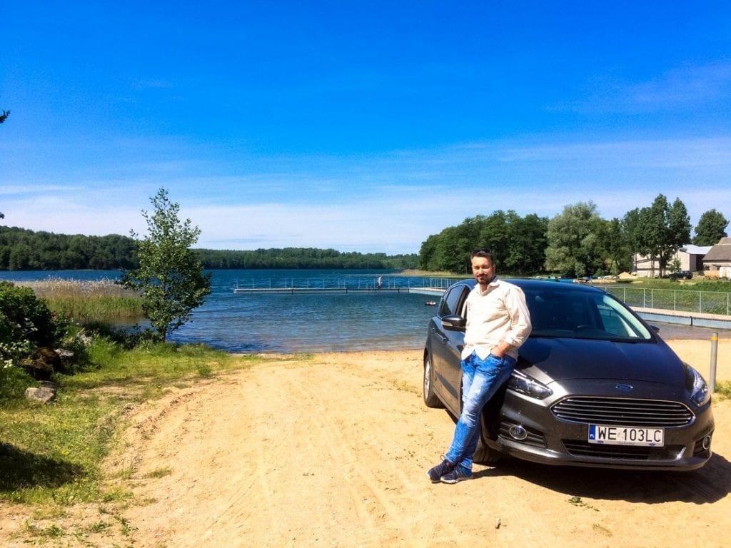 Nad jeziorem Hańcza.