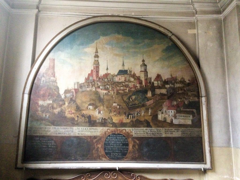Pożar Lublina w kościele Dominikanów.
