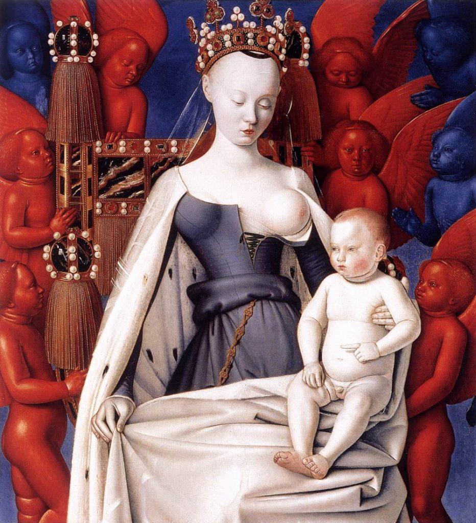 Jean Fouquet, Madonna z Melun, circa 1450