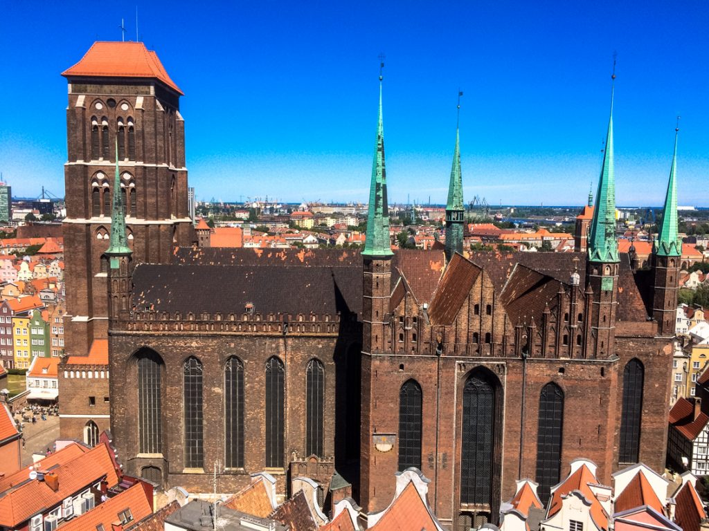 Bazylika Mariacka –największy kościół zbudowany z cegieł.