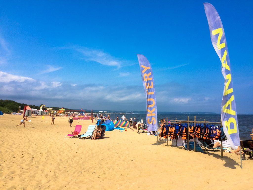 Najstarsza miejska plaża w tej części wybrzeża Bałtyku.