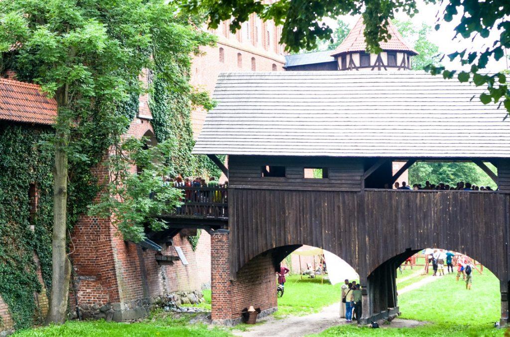 Główne wejście do malborskiego zamku.