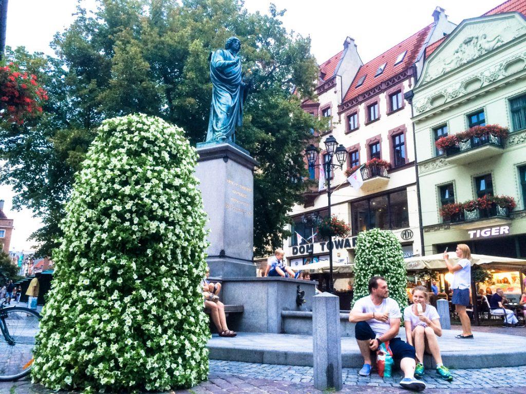 Pomnik Mikołaja Kopernika – najsłynniejszego mieszkańca Torunia.