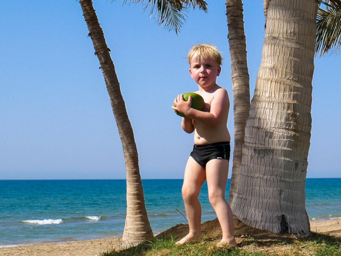 Promenada nadmorska. Oman to prawdziwy żar tropików.