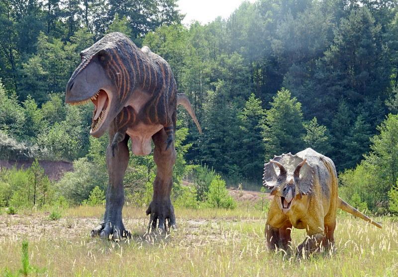 Dunozaury w Jurapark Krasiejów mają idealne proporcje, jak w rzeczywistości