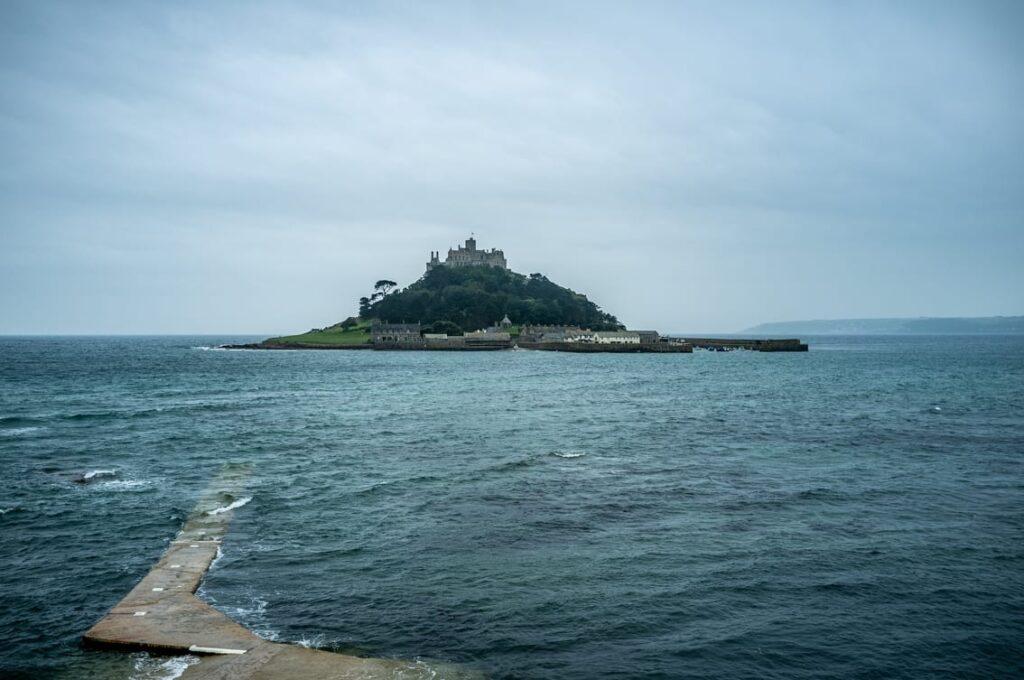 Zamek podczas przypływu.