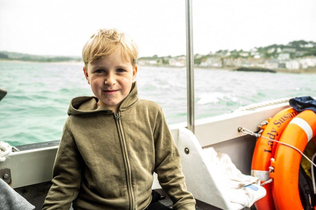Na łódce w drodze na St. Michael's Mount.