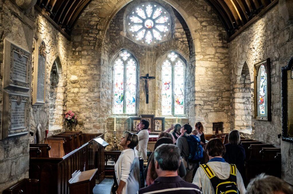 Najstarsza część czyli kościół.