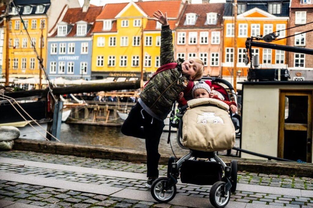Wilhelm I Lara Pinkwart w Nyhavn, Kopenhaga.