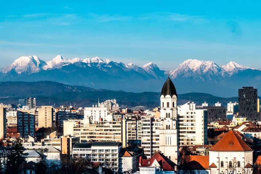 Ljubljana – widok z wzgórza zamkowego.