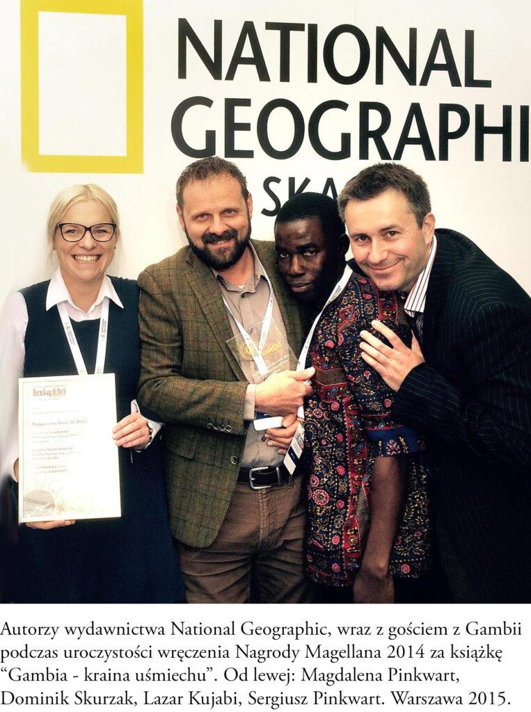 Gambia, Magdalena i Sergiusz Pinkwart odbierają Nagrodę Magellana, wydawnictwo National Geographic.