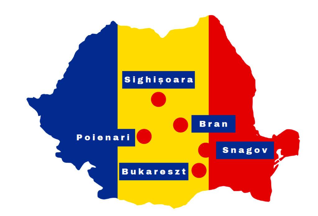 Rumunia szlakiem Drakuli – mapa