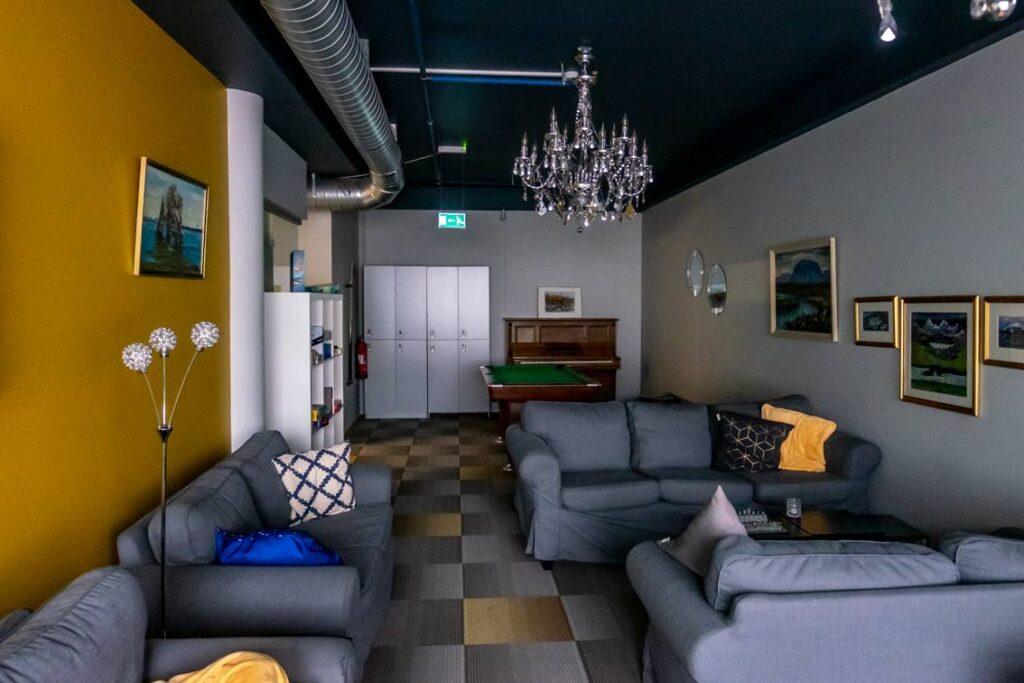 W Hafnarstræti Hostel do dyspozycji gości jest także część wypoczynkowa.
